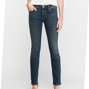 Express Mid Rise Dark Wash Skinny Jean 18L NWT